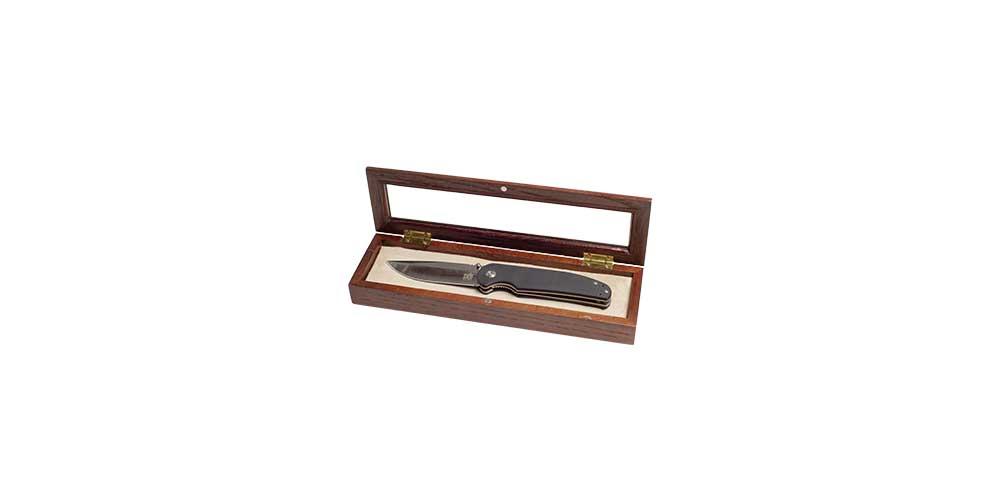 Дубовая шкатулка для ножа 2
